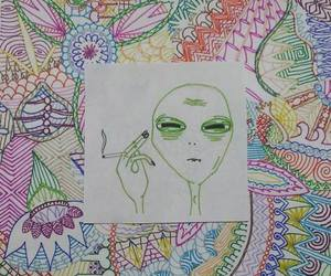 alien, colorful, and draw image
