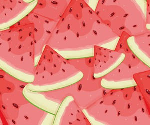 watermelon, wallpaper, and red image