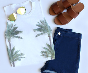 fashion, palms, and style image
