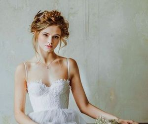 dress, wedding, and vintage image