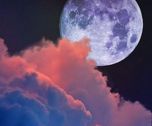 clouds, moon, and night image