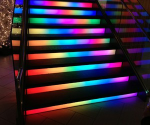 light, neon, and rainbow image