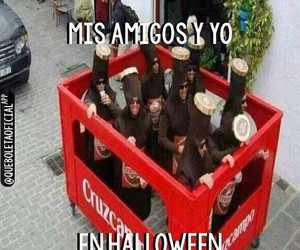 amigos, hallowen, and disfraz image