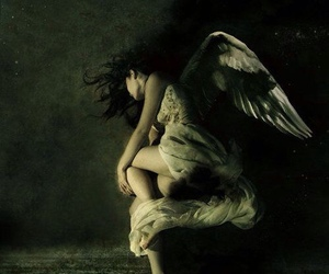 angel, dark, and wings image