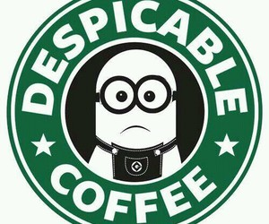 minions, coffee, and starbucks image