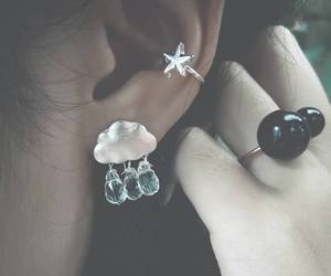 accessories, cloud, and earring image