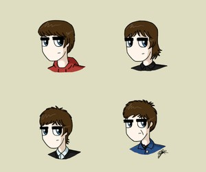dibujo, noel gallagher, and oasis image