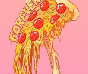 forever, real, and pizza image