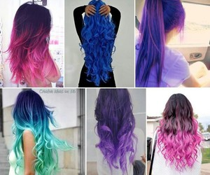 blue, colour, and hair image