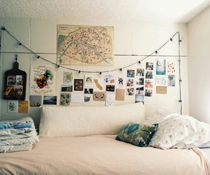 bedroom, bed, and cozy image