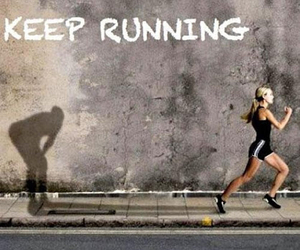 running, motivation, and quote image