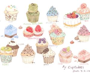 art and cupcake image