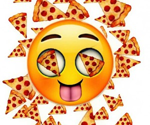 funny, pizza, and emoji image