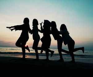 awesome, friends, and beach image