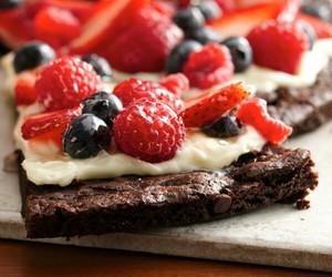 food, chocolate, and fruit image