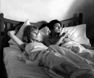 bed, couple, and 60s image