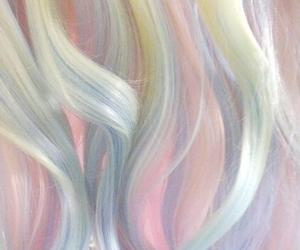 hair, pastel, and pink image