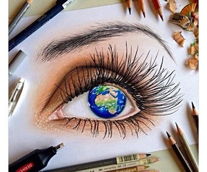 draw, eye, and girl image