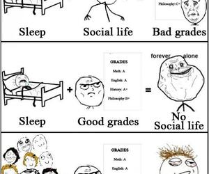 funny, life, and sleep image