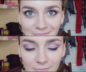 beauty, makeup, and purple makeup image