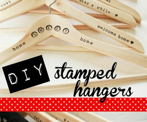 diy, hangers, and tutorial image