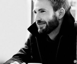 beard, black and white, and smile image