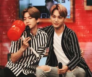 kai, baekhyun, and exo image