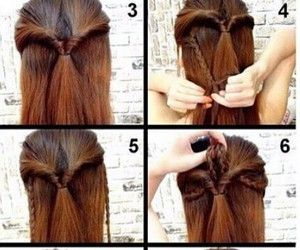 bow, diy, and hairstyle image