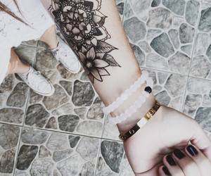 bracelet, tatoo, and tattoo image