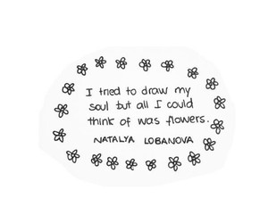 drawing, flowers, and soul image