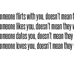 love, flirt, and quote image
