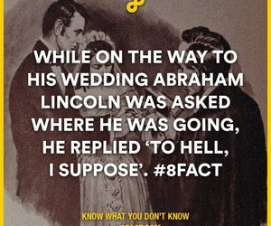 funny, lincoln, and facts image