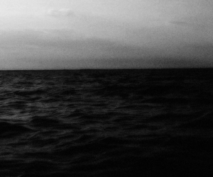 sea and black and white image