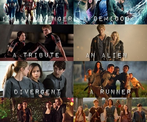 divergent, narnia, and percy jackson image