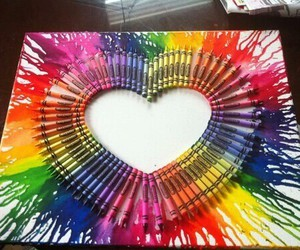 heart, art, and crayon image