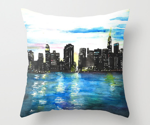 art, bed, and city image