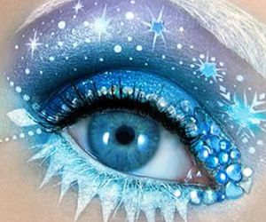 blue, makeup, and frozen image
