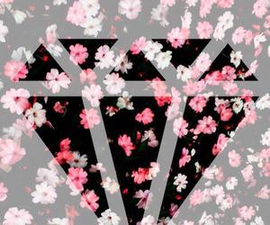 flowers, background, and diamond image