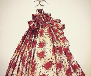 draw, dress, and red image