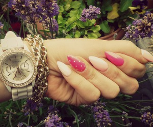 accesories, nails, and pink image