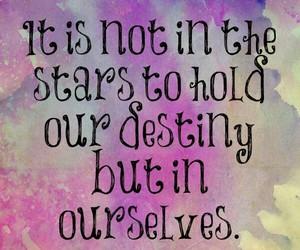 quote, destiny, and stars image