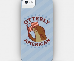 american, otter, and patriotic image