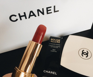 chanel, red, and black image