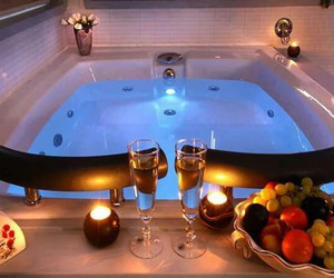 bath, fruit, and romantic image