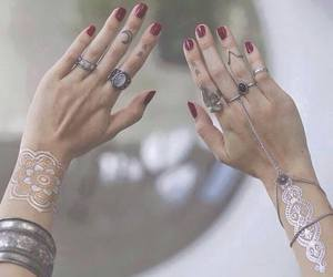 girly, grunge, and hands image