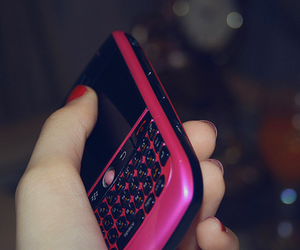 blackberry, mobiles, and pink image