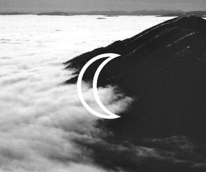 moon, fog, and nature image