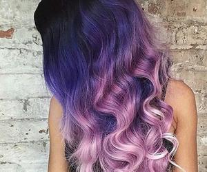beautiful, pastel, and hair image