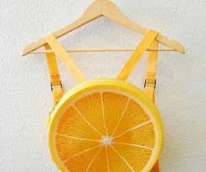 orange, fruit, and backpack image
