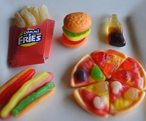food, pizza, and candy image